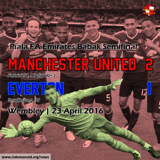 Review Piala FA: Manchester United 2-1 Everton