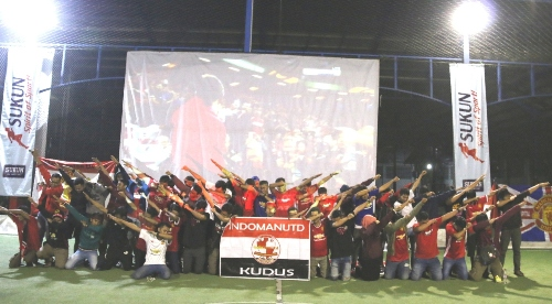 Keseruan Nobar Malam Final UEL bersama Indomanutd