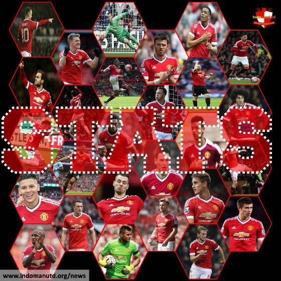 Statistik Pemain Manchester United di Liga Premier Inggris 2015/2016