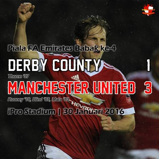 Review: Piala FA Emirates - Derby County 1-3 Manchester United