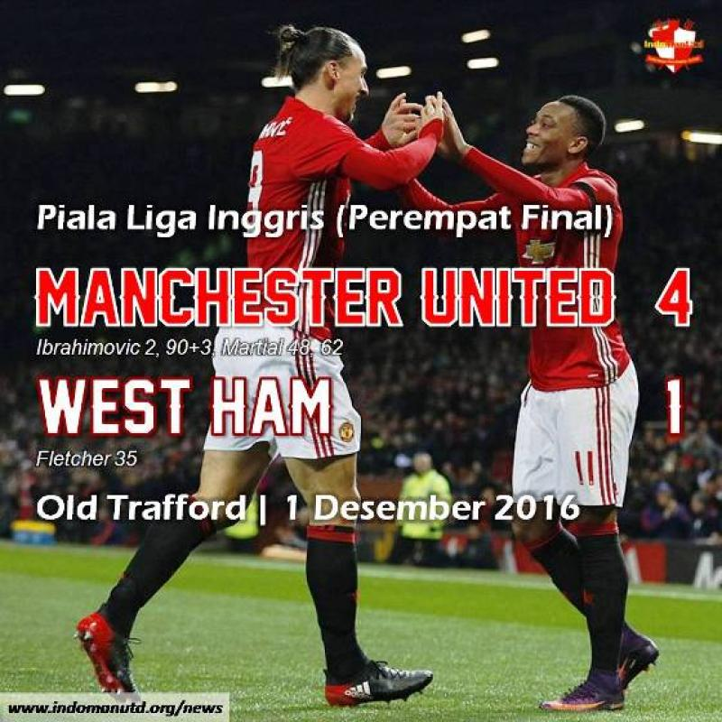 Review: Piala Liga - Manchester United 4-1 West Ham
