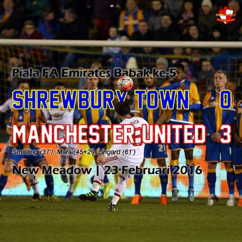 Review: Piala FA - Shrewsbury Town 0-3 Manchester United