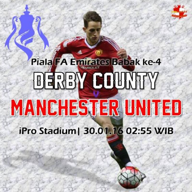 Preview: Piala FA Emirates - Derby County vs Manchester United