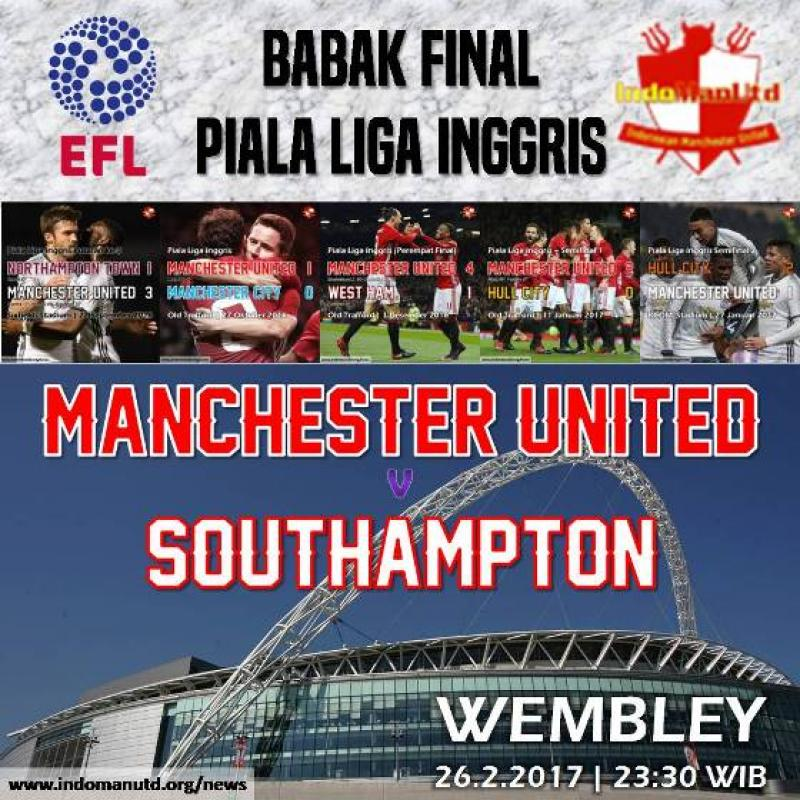 Preview Final EFL 2017 : Manchester United vs Southampton