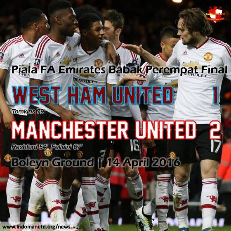 Review: Piala FA - West Ham United vs Manchester United