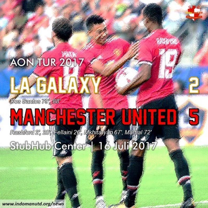 Tur 2017: LA Galaxy 2-5 Manchester United