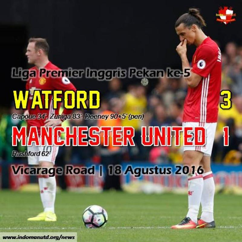Review: Watford 3-1 Manchester United