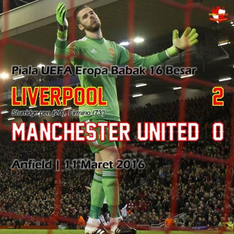 Review: Piala EUFA - Liverpool 2-0 Manchester United