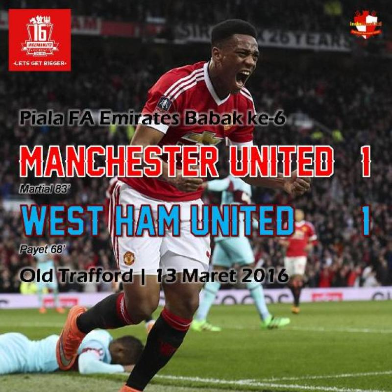 Review: Piala FA - Manchester United 1-1 West Ham United
