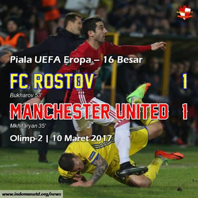 Review Piala UEFA: FC Rostov 1-1 Manchester United
