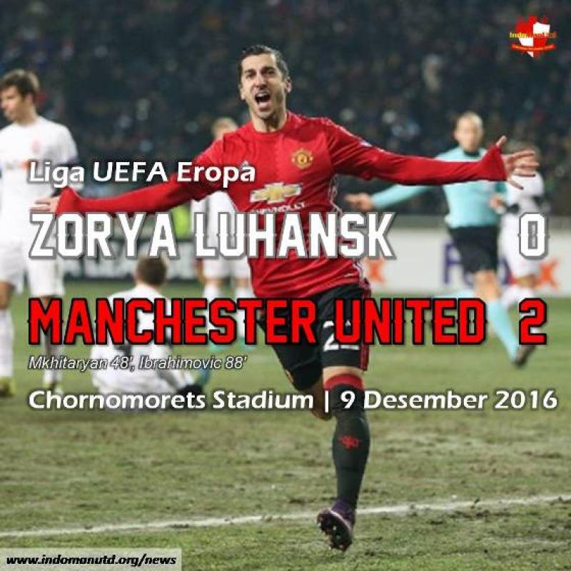 Review: Zorya Luhansk 0-2 Manchester United