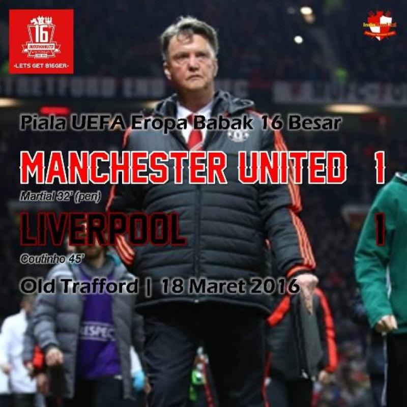 Review: Piala UEFA - Manchester United 1-1 Liverpool