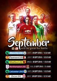 Jadwal MUFC Bulan September 2016